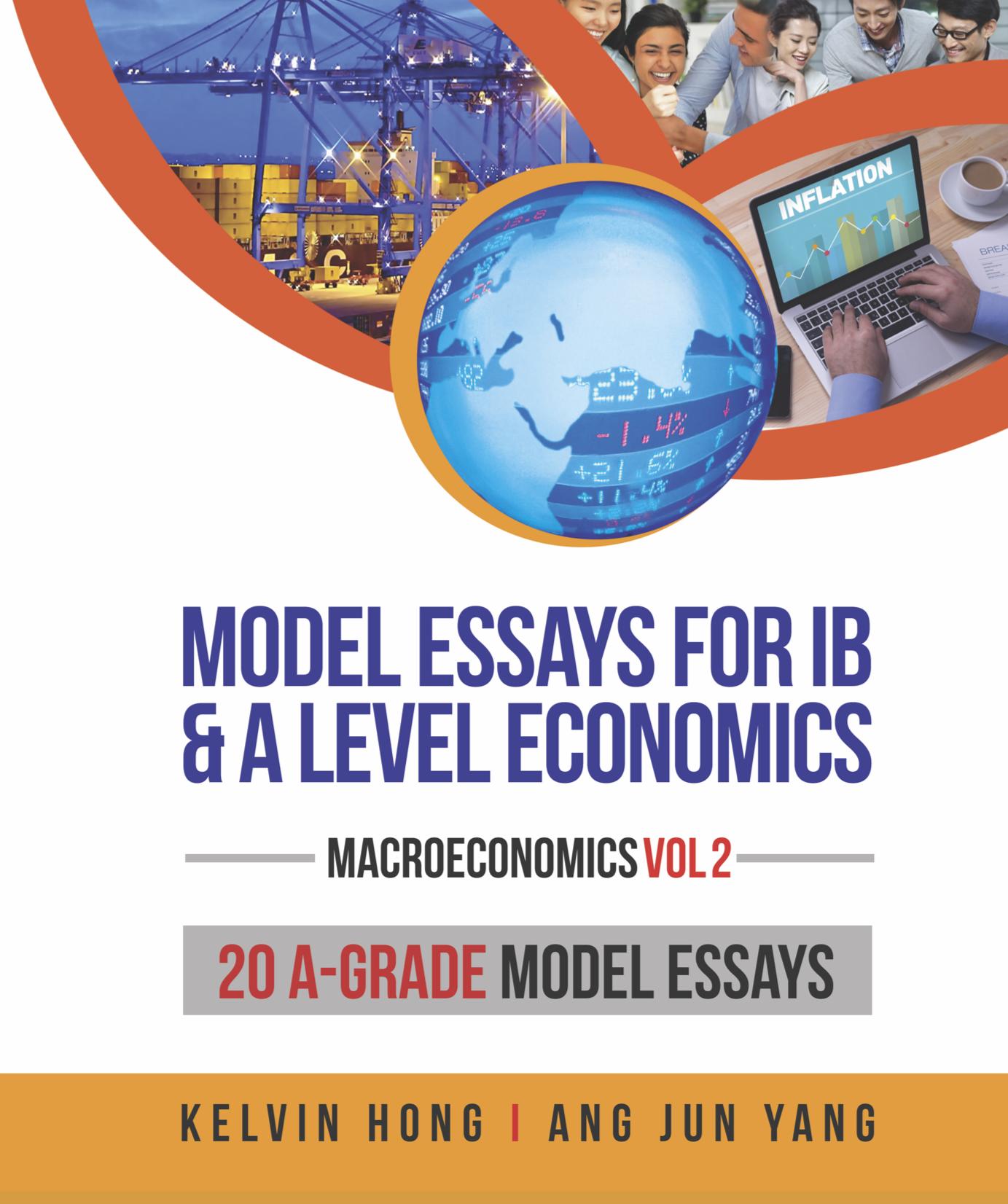 Model Essays Macro 1B Front cover Economics Study Guides